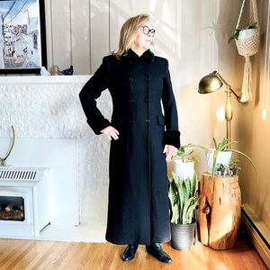 Boss Babe! Wool Blend Long Coat With Faux Fur
